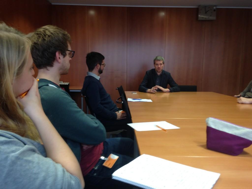 Ja zum Freihandel, nein zu TTIP: Dieter Janecek (re.) beim Gespräch im Paul-Löbe Haus.