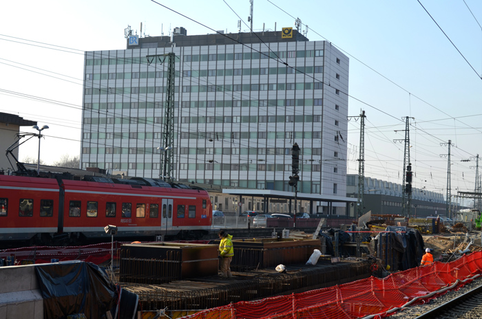 Bauerarbeiten am Hauptbahnhof wuerzburg