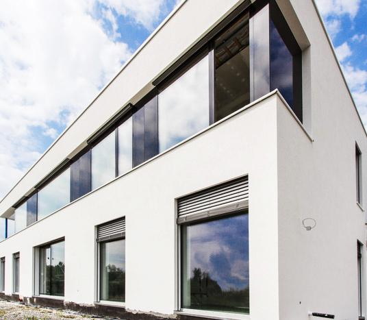 Seitenansicht eines Smart Homes