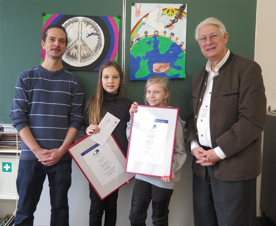 Siegerehrung im Röntgen-Gymnasium Würzburg