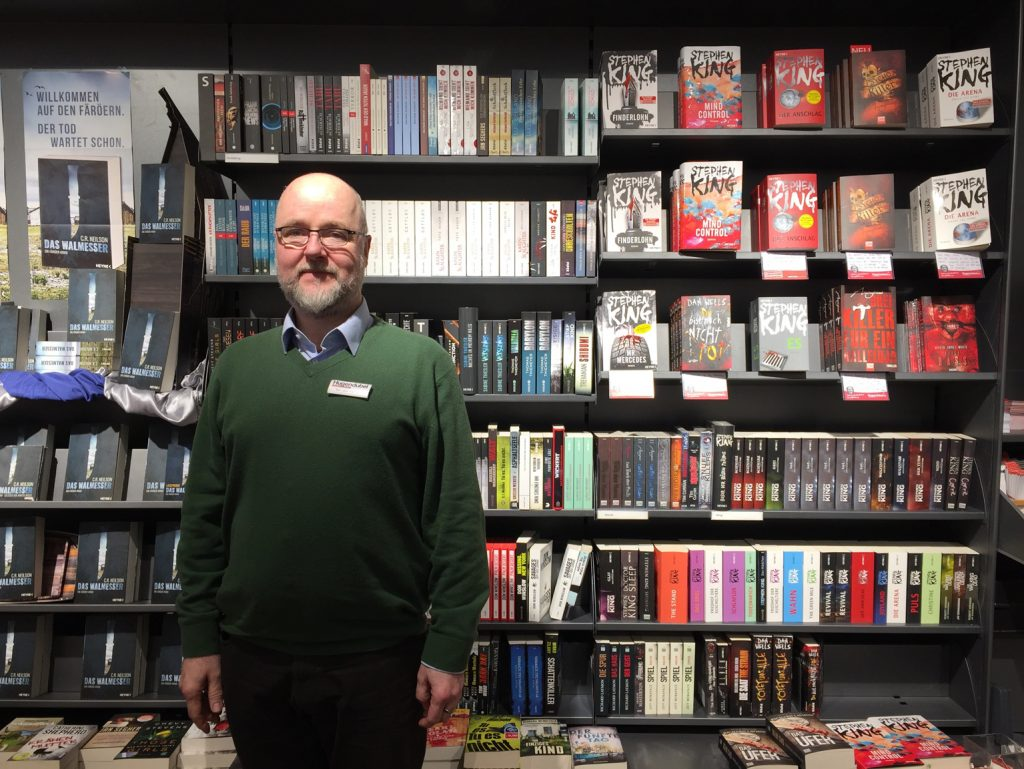 Buchhändler Kai Uwe Hampel (Foto: Andrea Deublein)