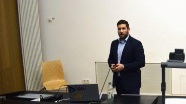 Lukas Bäuerle von Microsoft zu Gast bei der Ringvorlesung des ZDI. Foto: Marius Heck
